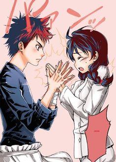 Shokugeki no Souma | Food Wars! | Souma Yukihira x Megumi Tadokoro | OTP | Anime | Fanart | SailorMeowMeow
