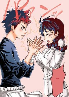 Food wars! Shokugeki no Soma #anime #manga Soma and Megumi