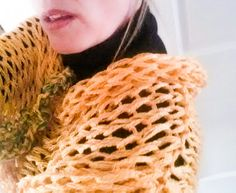 Fishnet Infinity Scarf.....Spring Summer by nouveauvintageltd