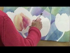 prisming technique in watercolor, with tulips - YouTube