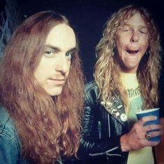 Cliff Burton and James Hetfield-Metallica..............