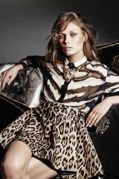 Take a walk on the wild side this season with the new #RobertoCavalli animal prints for the FW14 collection!