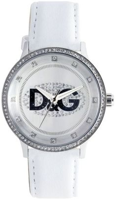 Womens White Leather Strap