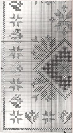 Hardanger doily chart - some of this might work for chicken scratch