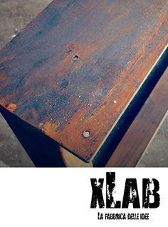 gambe per tavolo in ferro effetto corten