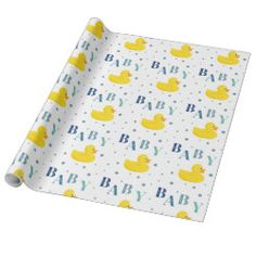 Glossy Wrapping Paper (15 foot roll) with Duck Wrapping Paper design