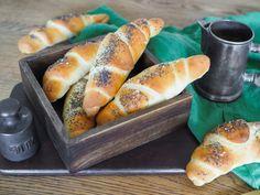 RECEPT | ŠPALDOVÉ ROHLÍKY | Na skok v kuchyni Hot Dog Buns, Hot Dogs, Graham Crackers, Pretzel Bites, Cheesecake, Breads, Food, Bread Rolls, Cheesecakes