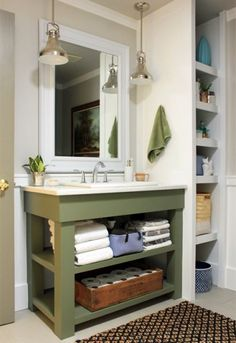 Our Humble Abode Blog Main Bathroom Vanity (Tate Olive) bathroom?