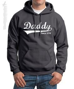 DADDY Since (ANY YEAR) vintage - crewneck or hoodie sweatshirt - custom gift idea for new dad Father's day baby shower personalized family on Etsy, $24.95 #CPDads #CafePress