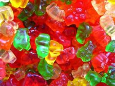 Gummies( not for kids ) need; gummy bears candies, liqueur of your choice and patience. Fill bowl with gummy bears candy, Add alcohol of choice. Place in fridge for 1 hour, Gummy bears should absorb all the alcohol. Adults only. Alcohol Gummy Bears, Drunken Gummy Bears, Homemade Gummy Bears, Gummi Bears, Homemade Gummies, Alcohol Candy, Rice Krispie Treats, Rice Krispies, Churros