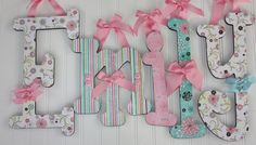 Wood Letters - Baby Name Letters - Wooden Wall Letters