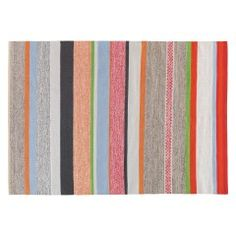 Hand Woven Coates Medium Multi Coloured Stripe Cotton Rug 140 X Adds A Soft Touch To Hard Floor And Provides Colour Cue For Accessories