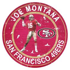 Pay homage to your favorite player with the Fan Creations Player Team Circle Wall Art . Composed of MDF, this wall art is durable and can be proudly. Nfl 49ers, Nfl Football, Joe Montana, Nfl San Francisco, Twin Souls, F 16, Team Player, Reality Check, Kansas City Chiefs
