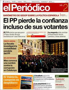 Los Titulares y Portadas de Noticias Destacadas Españolas del 2 de Febrero de 2013 del Diario El Periódico ¿Que le parecio esta Portada de este Diario Español?