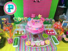 Peppa Pig birthday party desserts! See more party ideas at CatchMyParty.com!