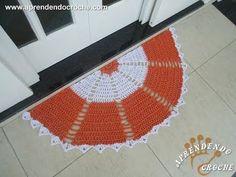 Tapete de Croche com Barbante Meia Lua - Aprendendo Crochê