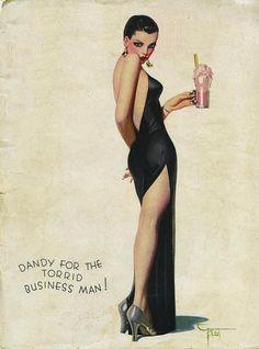 fuckyeahvintage-retro:  Film Fun cover, April 1935 - By Enoch Bolles.