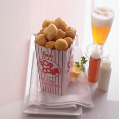 Share Popcorn Fish and Chips with the entire table at #Qsine.