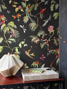 Vliestapete BN / D. Living 17712 / BN 17712 / Tapete Vögel schwarz / Floral Watercolor DIY pack art…Florist's Dream wallpaper