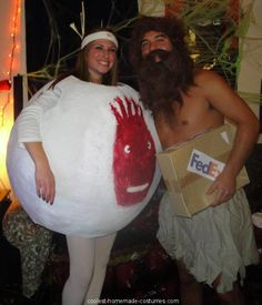 Coolest Adult Cast Away Couple Costume... This website is the Pinterest of costumes
