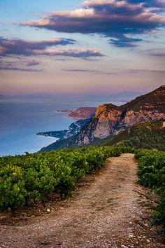 The view over the corinthian gulf during sunset -- Greece #Kalavryta Achaia Aigion Aigio Egio Egion Kerynitis Mamousia