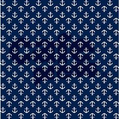 Navy Blue Anchors Shower Curtain by mcornwallshop