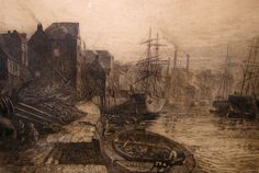 Thomas M. Hemy Etching entitled 'Old Sunderland' Family History Book, History Books, Victorian Buildings, North East England, Sunderland, Historical Pictures, British Isles, World History, Newcastle