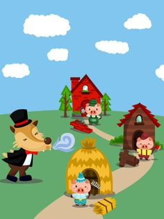 Petite Section, Three Little Pigs, Reading Strategies, English Lessons, Puppets, Images, Illustration, Kids, Pictures
