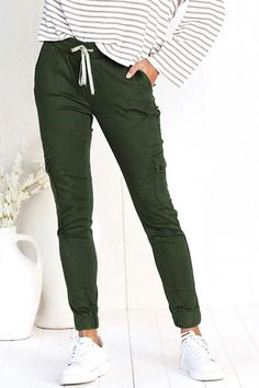 Pocket Drawstring Skinny Pants – chiclinen casual pants casual pants for women casual pants outfit casual pants outfit summer casual pants for women street style Outfits Otoño, Casual Outfits, Casual Pants, Skinny Pants, Wide Leg Pants, Jogger Pants Outfit, Drawstring Pants Outfit, Slim Joggers, Womens Joggers
