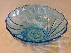 GLASS ART: BLUE CAPRI BOWL