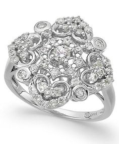 Wrapped in Love™ Diamond Vintage Ring in 14k White Gold (3/4 ct. t.w.)
