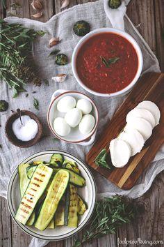 Sicilian-Parmigiana-DiZucchine-13951 Zucchini Lasagna, Zucchini Parmesan, Zuchinni Casserole, How To Make Lasagna, Homemade Tomato Sauce, Vegetarian Recipes Easy, Sicilian, Fresh Herbs, Casserole Dishes