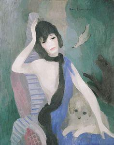 Portrait of Mademoiselle Chanel (Marie Laurencin)...a new favorite, thanks l'Orangerie