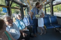 Awww! This Vancouver couple met on the bus last April, and then got married on the bus. <3