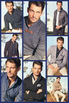 Massimo Dutti 2013 Hot Guys Eye Candy, Top Male Models, English Gentleman, David James Gandy, British Men, Supermodels, Moonlight, Men's Style, Collages