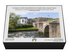 The bridge over the River Derwent, Matlock Town, Derbyshire Dales, Derbyshire, England. 1000 Piece Puzzle. The bridge over the River Derwent, Matlock.