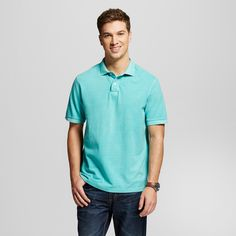 • Polo Collar<br>• 100% Cotton<br>• Short Sleeve, No Cuff<br>• Model wears size Medium and is 6'1''<br><br>Feel stylish and comfortable all day long in the Men's Garment Dyed Polo Shirt - Merona™. This shirt is both fashionable and easy to wear, making it perfect for any occasion.