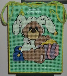 Plastic canvas Easter Bunny picture