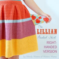 ~PATTERN~ The Lillian Pleated Skirt RIGHT-HANDED VERSION