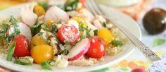 Quinoasalade met cherrytomaat, tonijn en feta