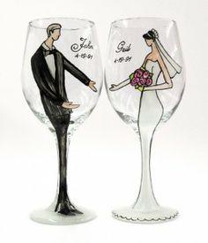 Louisville Wedding Blog - A Taste of Kentucky - Personalized Bride or Groom Wedding Wine Glass