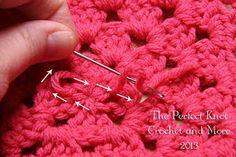 How To Weave In Your Ends in Crochet ~ free pattern ♡ Teresa Restegui http://www.pinterest.com/teretegui/ ♡
