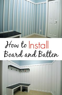 DIY Home Decor Ideas : Illustration Description How to Install Board and Batten. Great tips! Board And Batten, Home Reno, Do It Yourself Home, Diy Home Improvement, Home Repair, Home Projects, Decoration, Home Remodeling, Diy Furniture