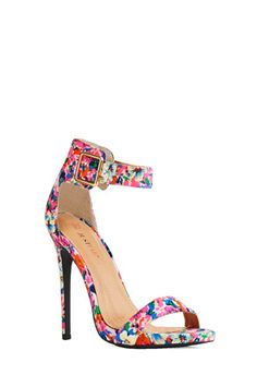 My favorite new Spring Shoe...a nice blend of Spring Trends-Florals & Ankle Straps!  I'm loving it <3 This is the best ever!
