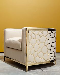 Shop Golden Curved Chair from caracole at Horchow, where you'll find new lower shipping on hundreds of home furnishings and gifts. Furniture Design, Sofa Design, Luxury Furniture, Furniture, Home Furniture, Curved Chair, Home Decor, Classic Furniture, Living Room Furniture