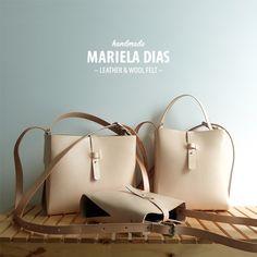 tangerine family · bag · leather & wool felt http://marieladias.tictail.com