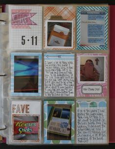 Keep Project Life simple with a 8.5 x 11 weekly spread using baseball sleeves. by Oh! Emily Made That