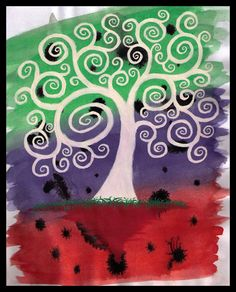 spiral tree by ~pouiboui