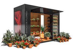 Status: Projeto Local: Porto Alegre/RS Ano: 2011 Área: 7.00m² Programa: Módulo urbano para comércio de flores. Custo: - Cliente: Sinergy Novas Mídias  Equipe de Projeto: Alexandre R. Prass Filipe S. Santos Pedro C. Félix