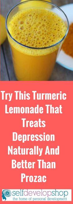 Turmeric Lemonade That Treats Depression Naturally And Better Than Prozac #depression #lemonade #prozac #turmeric #love #life #today #drinking #drink #mouth #anxiety #lemon #health #cause #school #having #mentalhealth #self #feeling